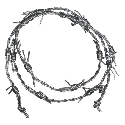 "Lederband ""Barb Wire Silver"""